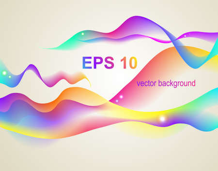 Abstract vector wave Vector