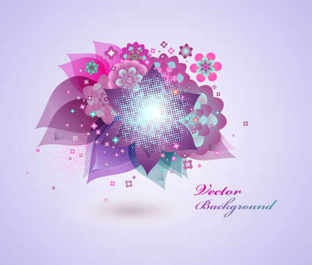 Floral abstract background Stock Vector - 12825055