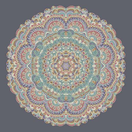 Doodle psychedelic mandala