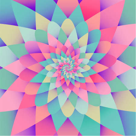 Vector background with bright rainbow spiral psychedelic form pattern