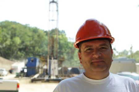 Worker at the rig photo