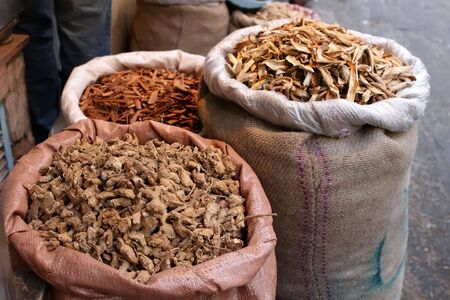 Indian spices at the market photo