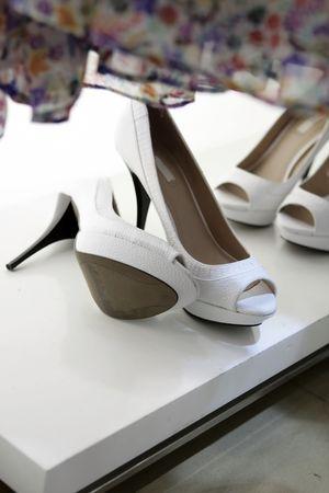 High heel female shoes photo