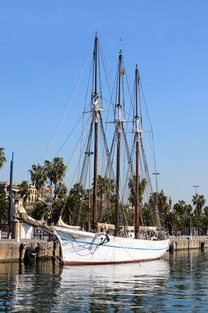 Ship in Barcelona port, Spain photo