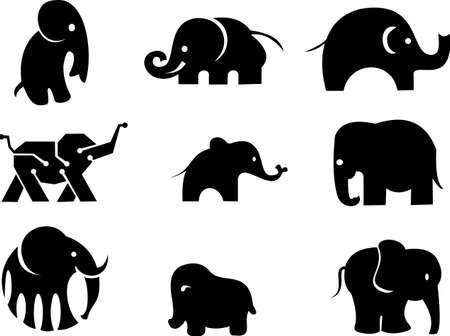 magazzino logo elefante silhouette