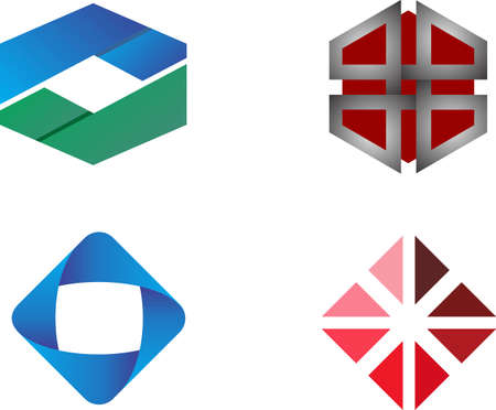 stock logo cube illustration