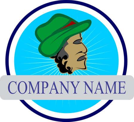 style: senior style logo Illustration