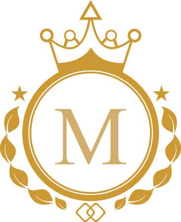 roi lettre m logo