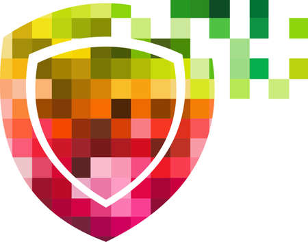 logo: logo shield protection colorful