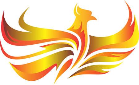 logo flaming flying phoenix fire Stock Vector - 74724779