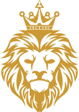 ロゴのライオン キング  イラスト・ベクター素材