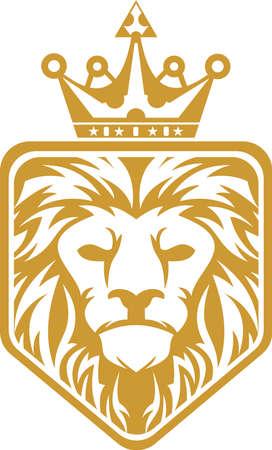 Head lion king hexagon