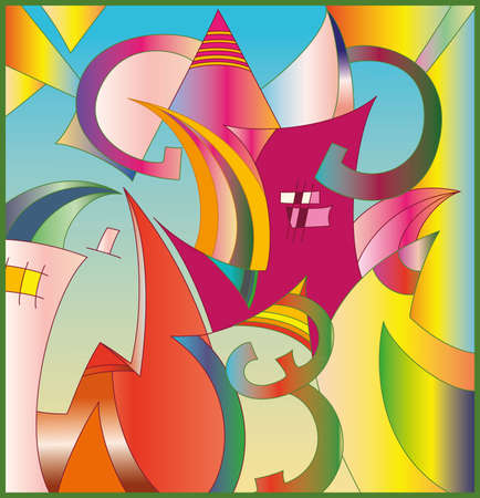 Abstract vector illustration. High resolution (6000 x 6222 px) JPG preview included. Illustration
