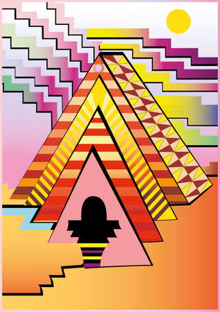Illustration of Abstract pyramid. High resolution (6000 x 4240px) JPG preview. Stock Vector - 7521581
