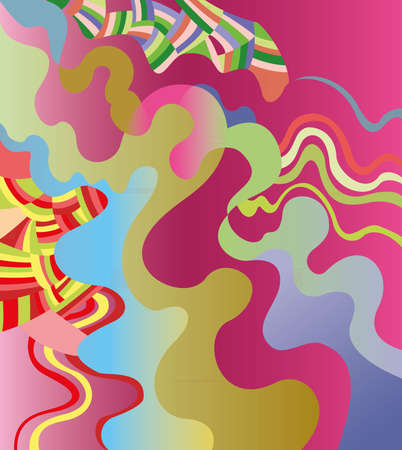 Vector illustration of abstract wavy background.
