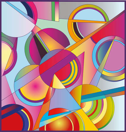 abstract art: Illustration of Abstract  Random colored circles. High resolution (6000 x 6292 px) JPG preview.