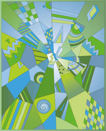 Illustration of abstract ornament. High resolution (6000 x 7413px) JPG  preview.