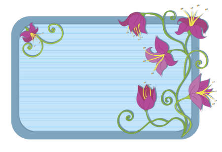Flowers on striped background Stock Vector - 10877535