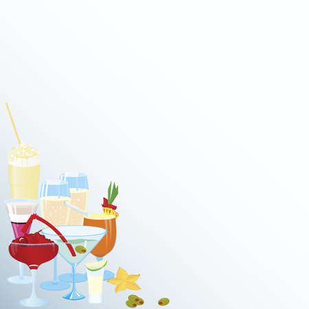 Vector illustration of cocktail corner decoration element Illusztráció