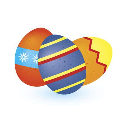 aster: illustration of tree aster eggs on white background