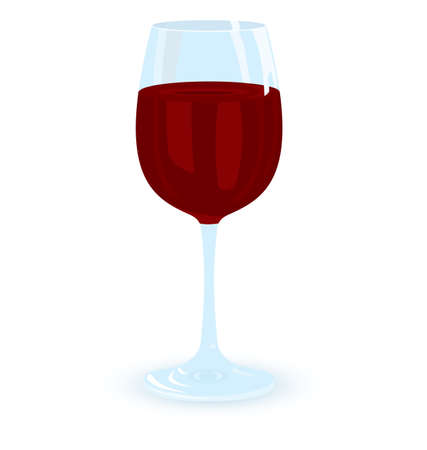 illustration of glass of red wine on white background Stock Vector - 15198032