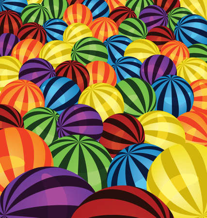 illustration of many colorful balls background  Vector