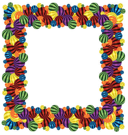 big size:  illustration of many colorful balls pattern brush
