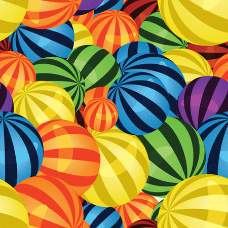 illustration of many colorful balls seamless pattern  Vector