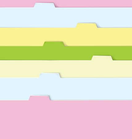 illustration of realistic colorful paper folders       Иллюстрация