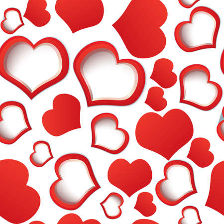 heats: illustration  of red heats seamless background on white