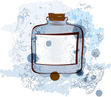 old fashioned: illustration of an old fashioned water colored jar  Illustration