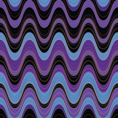 illustration of wavy seamless pattern