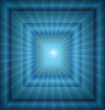 illustration of abstract blue background with light rays effect