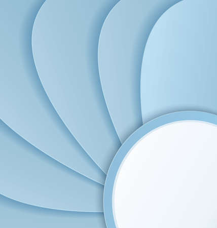 crafted:  illustration of abstract background with paper crafted curved shapes  Illustration