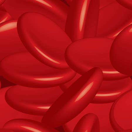 blood flow: Illustrazione vettoriale di cellule del sangue, sfondo, senza soluzione di continuit� Vettoriali