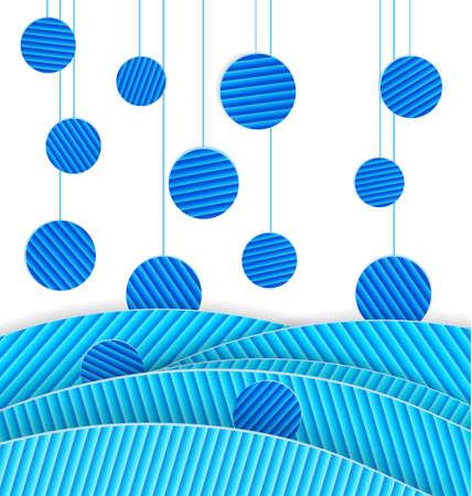 Illustrazione vettoriale di carta astratta realizzata sfondo con puntini blu Archivio Fotografico - 16901119