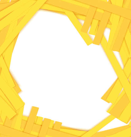 scarp: Vector illustration of abstract shredded yellow paper background with copy space