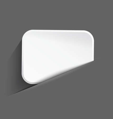 Vector illustration of 3d white plastic board with realistic shadow in paper cut pocket