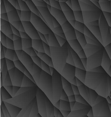 Vector abstract black polygonal background with shadows and light surface