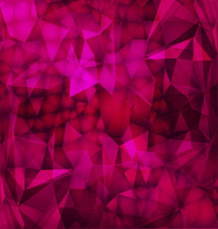 Vector abstract polygonal background with shadows and light effect of broken glass pieces  Illustration