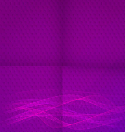Abstract purple wavy background textured with hexagonal mosaic and paper folded lines