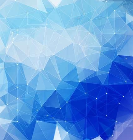 삼각형 파란색 현대 모자이크 배경입니다. 모바일 및 웹 디자인을위한 기하학적 다각형 추상 미술 배경입니다.
