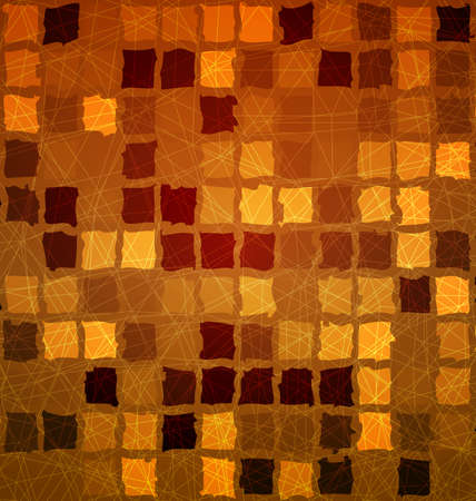Brick tile abstract orange background with grunge and light effects for mobile and wed design.