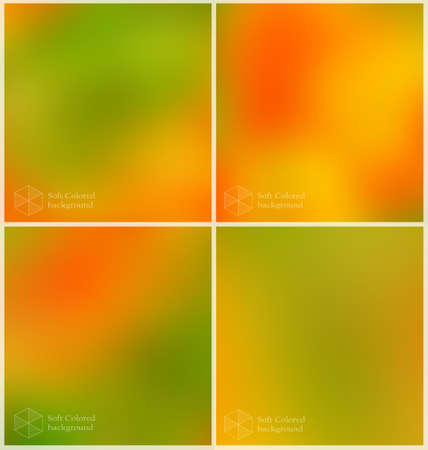backgrounds: Soft colored abstract backgrounds. Green and orange blurred backdrop for web and mobile.