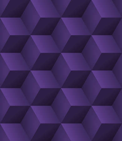 Abstract seamless background with 3d purple cubes with realistic shadow