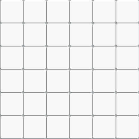 Seamless white square ceramic tiles background with realistic shadow