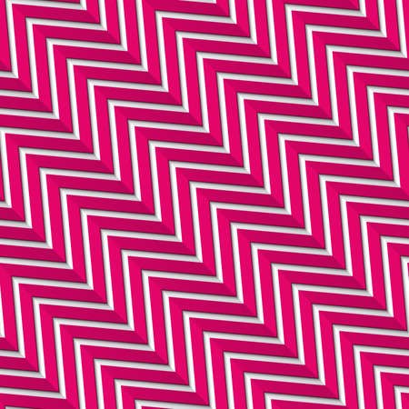 folded paper: Seamless pattern background with diagonal magenta zigzag lines with long shadow and folded paper illusion