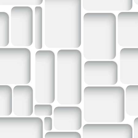 Abstracte diagonale naadloze achtergrond wit net met realistische schaduw. Stock Illustratie