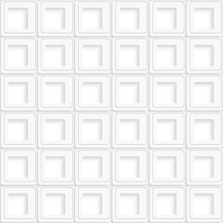 White square abstract seamless  background with realistic shadow