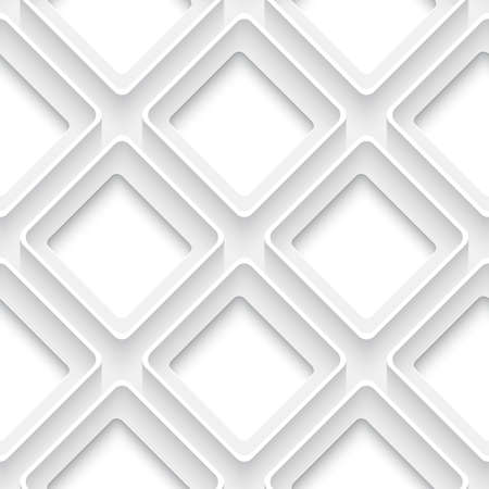 White abstract seamless background square with 3d rim and realistic shadow  Ilustracja